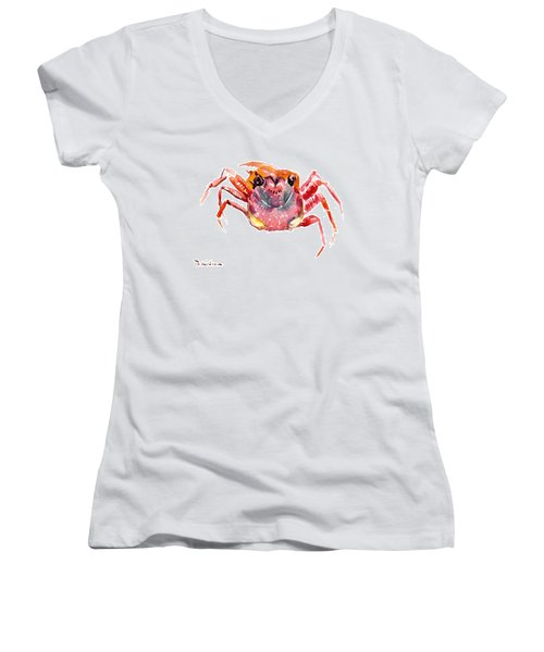 Crab Women's V-Neck T-Shirt