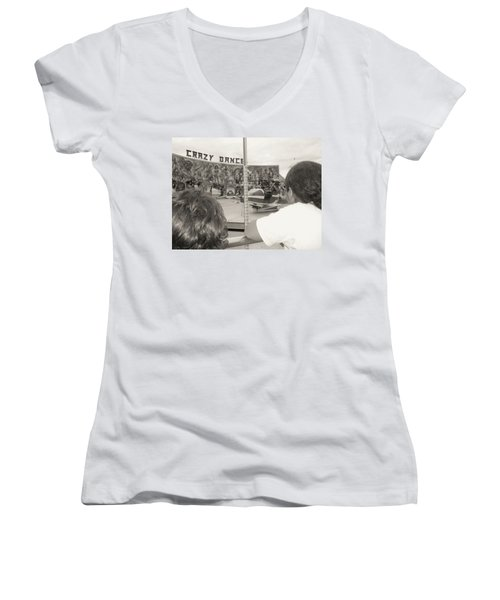 Women's V-Neck T-Shirt (Junior Cut) featuring the photograph Crazy Dance by Beto Machado