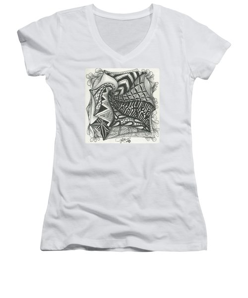 Crazy Spiral Women's V-Neck (Athletic Fit)