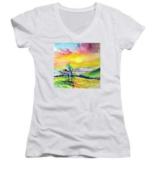 Creation Sings Women's V-Neck (Athletic Fit)