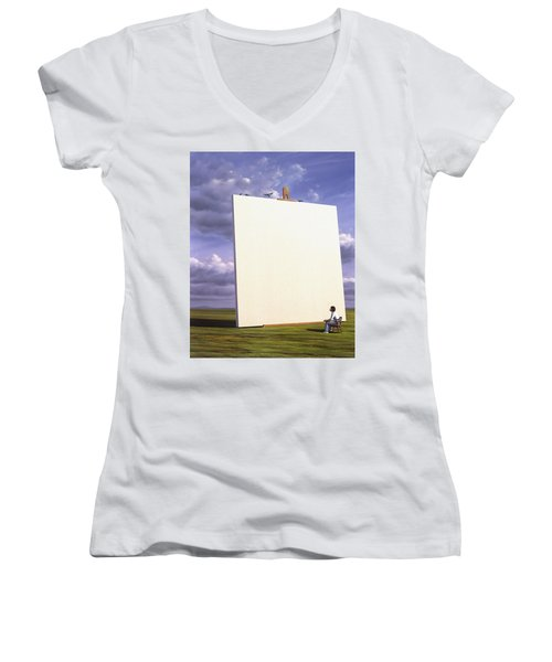 Creative Problems Women's V-Neck (Athletic Fit)