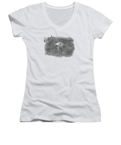 Creeping Panther Women's V-Neck T-Shirt