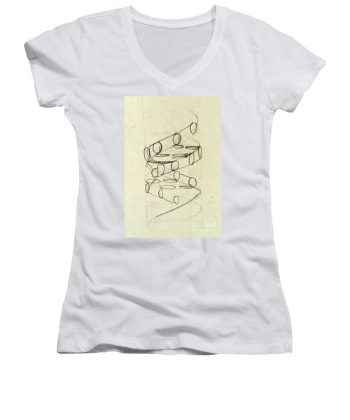 Cricks Original Dna Sketch Women's V-Neck T-Shirt