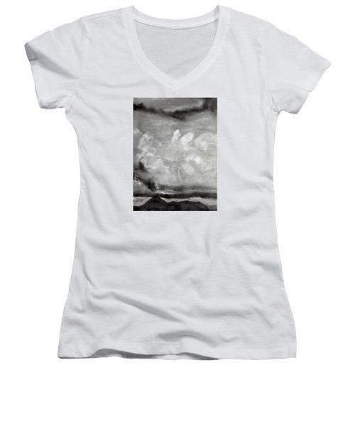 Croagh Patrick Women's V-Neck T-Shirt (Junior Cut)