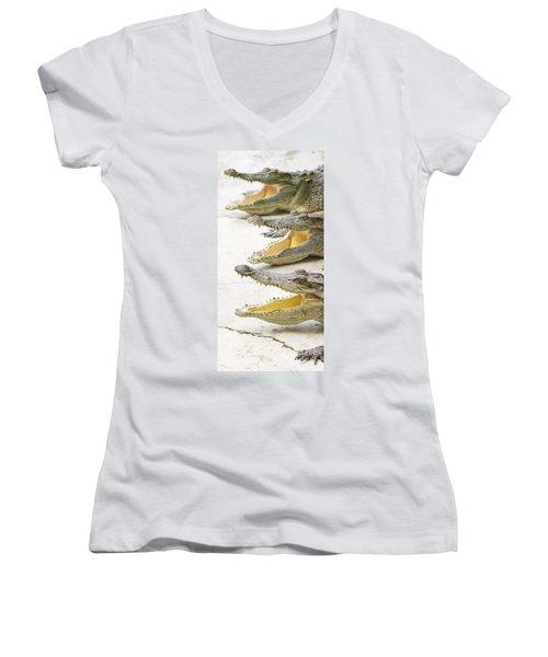 Crocodile Choir Women's V-Neck T-Shirt