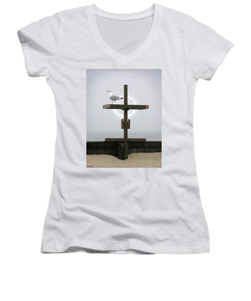 Cross At West Dennis Beach Women's V-Neck