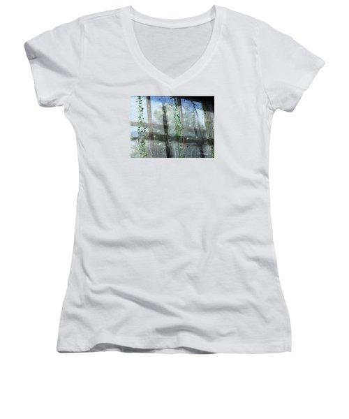 Crosses In The Window Women's V-Neck T-Shirt