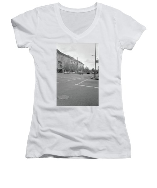 Crossroads In Prenzlauer Berg Women's V-Neck (Athletic Fit)