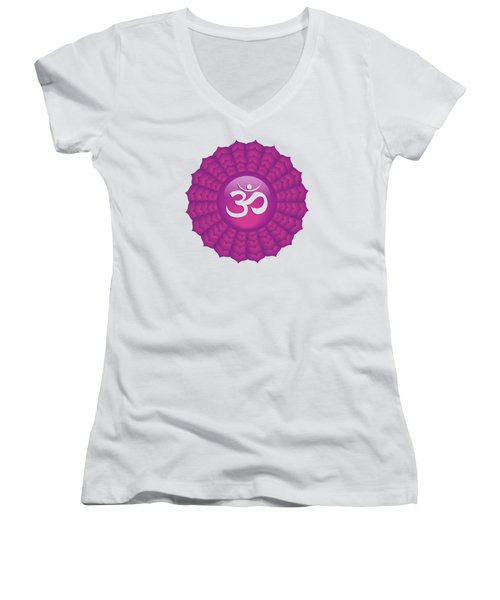 Crown Chakra Women's V-Neck T-Shirt