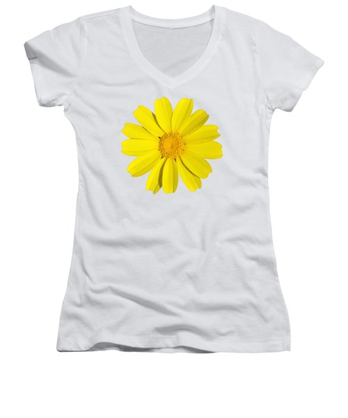 Crown Daisy Women's V-Neck T-Shirt