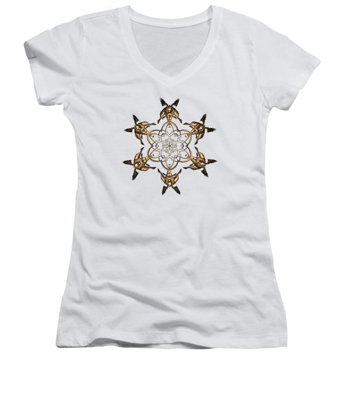 Crystal 24 Women's V-Neck T-Shirt (Junior Cut) by Robert Thalmeier