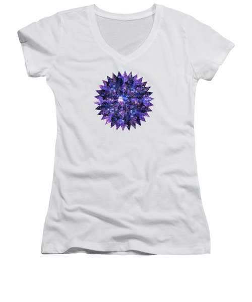 Women's V-Neck T-Shirt (Junior Cut) featuring the photograph Crystal Magic 1 by Leanne Seymour