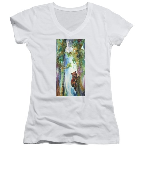 Cub Bear Climbing Women's V-Neck