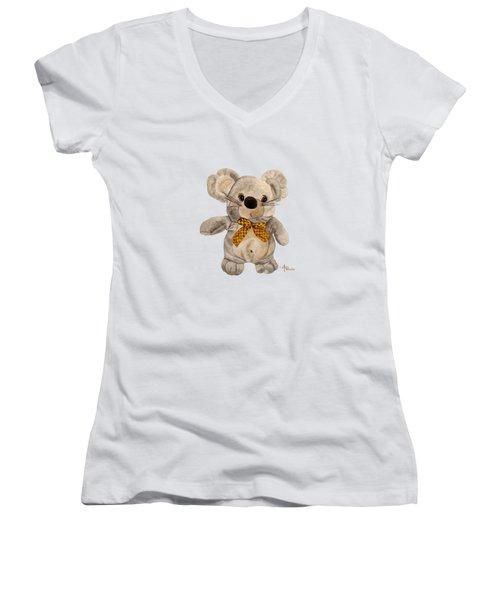 Cuddly Mouse Women's V-Neck T-Shirt (Junior Cut)