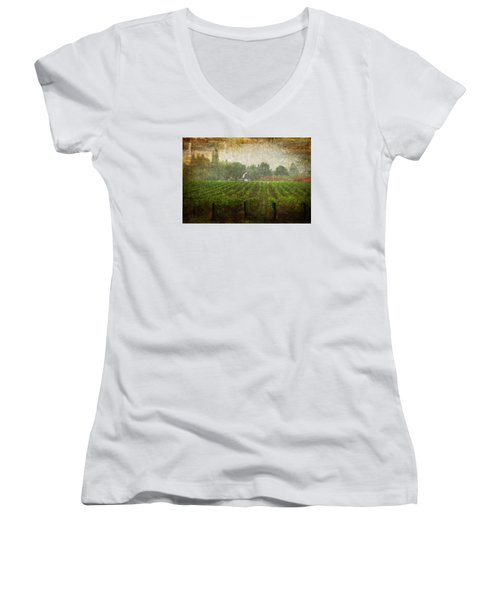 Cultivating A Chardonnay Women's V-Neck (Athletic Fit)