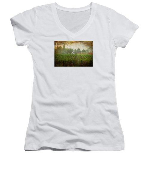 Cultivating A Chardonnay Women's V-Neck T-Shirt (Junior Cut)