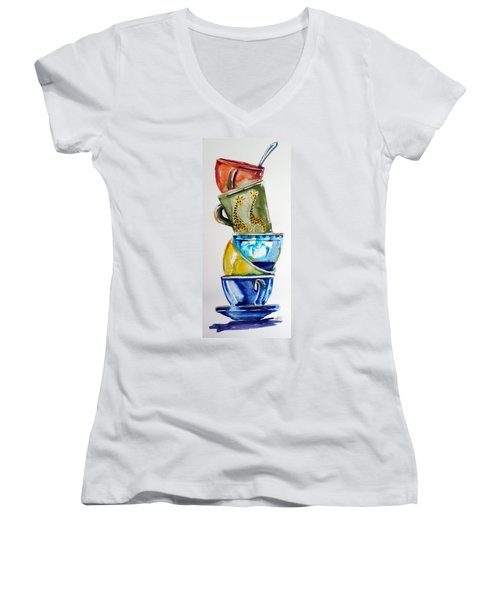 Cups Women's V-Neck T-Shirt (Junior Cut)