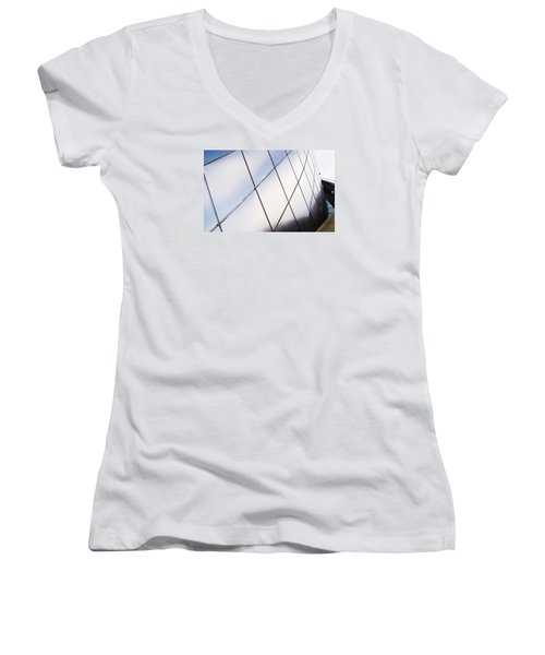 Curve Of The Cone Women's V-Neck T-Shirt (Junior Cut) by Martin Cline