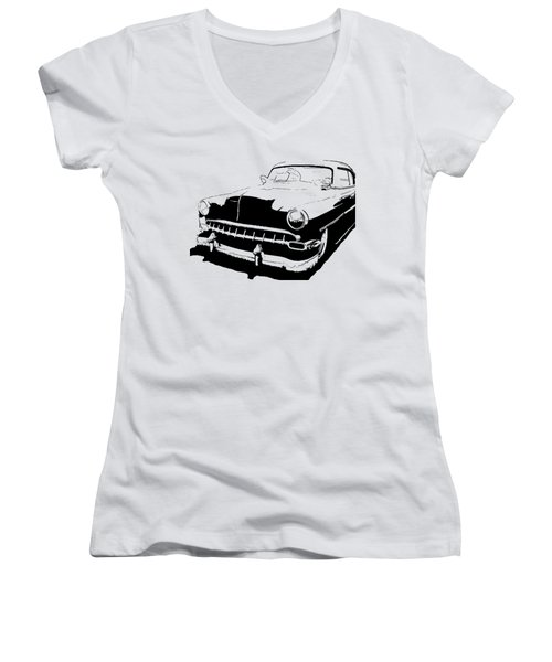Custom 1954 Chevy Tee Women's V-Neck (Athletic Fit)