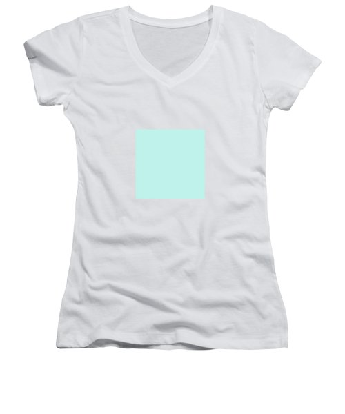 Cyan Ultra Soft Pastels Colour Palette Women's V-Neck T-Shirt