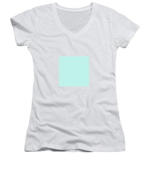 Cyan Ultra Soft Pastels Colour Palette Women's V-Neck