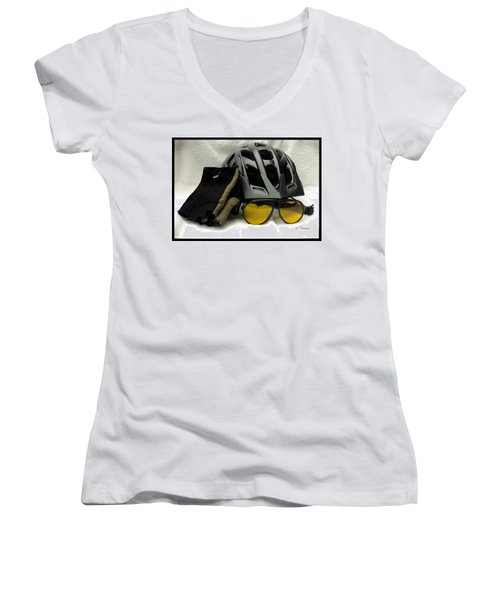 Cycling Gear Women's V-Neck T-Shirt (Junior Cut)