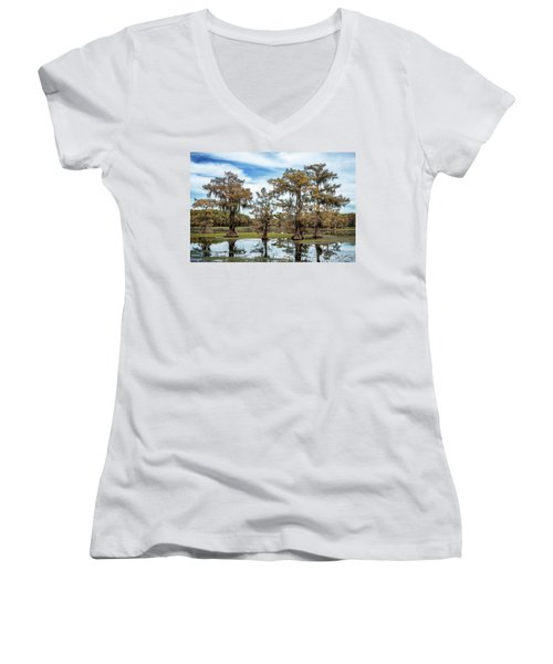 Cypress Expression  Women's V-Neck T-Shirt