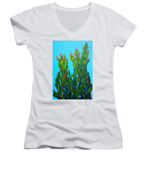 Cypressing A Wave Women's V-Neck