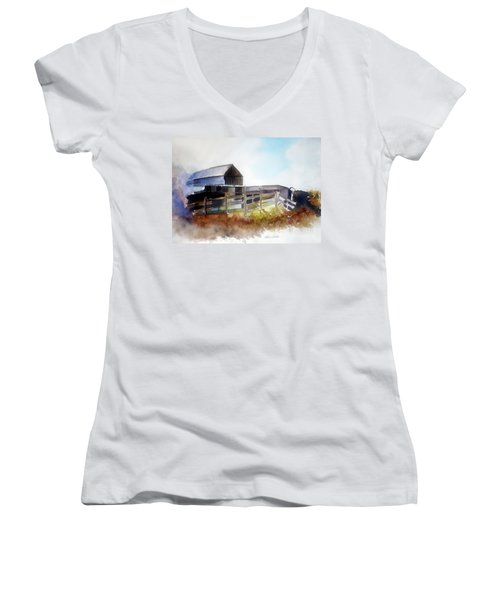 Dad's Farm House Women's V-Neck
