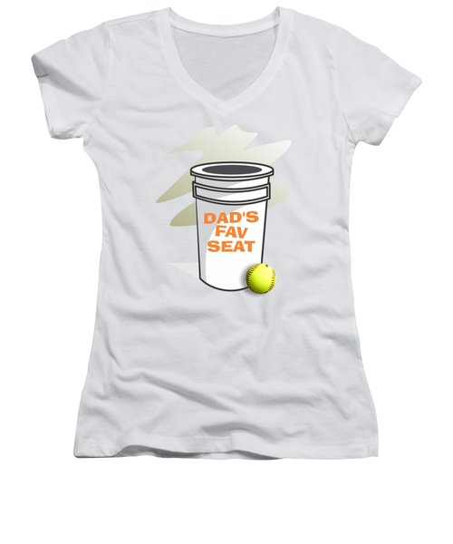 Dad's Fav Seat Women's V-Neck (Athletic Fit)