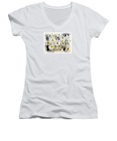 Daisy Bouquet Women's V-Neck (Athletic Fit)