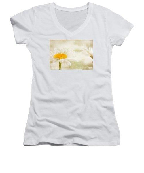 Daisy Women's V-Neck T-Shirt (Junior Cut) by Catherine Alfidi