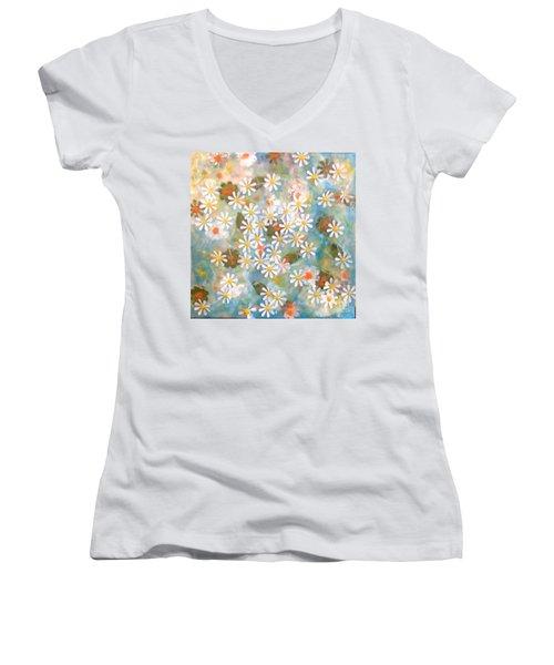 Daisy Days Women's V-Neck T-Shirt