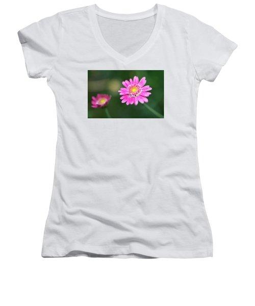 Daisy Flower Women's V-Neck