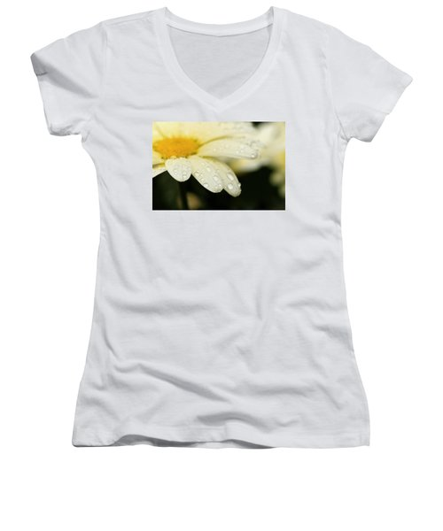 Daisy In Spring Women's V-Neck T-Shirt (Junior Cut) by Angela Rath