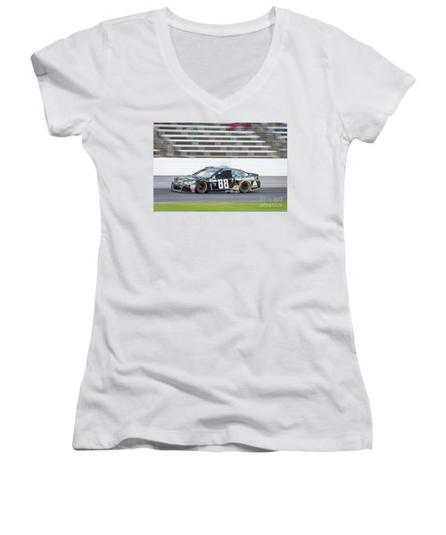 Dale Earnhardt Jr Running Hard At Texas Motor Speedway Women's V-Neck