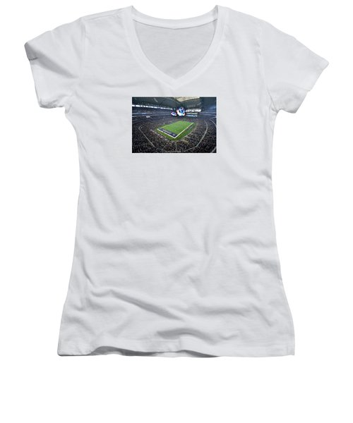 Dallas Cowboys Att Stadium Women's V-Neck