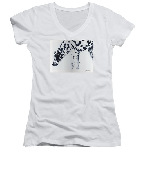 Dalmation Women's V-Neck