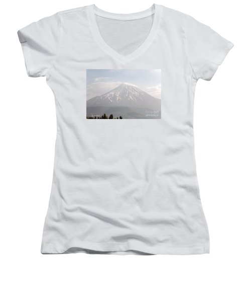 Damavand Mountain  Women's V-Neck