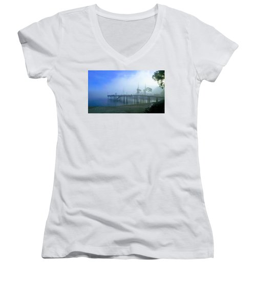 Dana Point Harbor When The Fog Rolls In Women's V-Neck