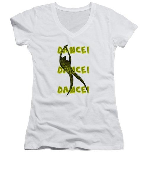 Dance Dance Dance Women's V-Neck