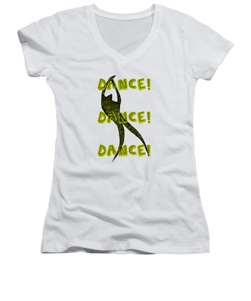 Dance Dance Dance Women's V-Neck (Athletic Fit)