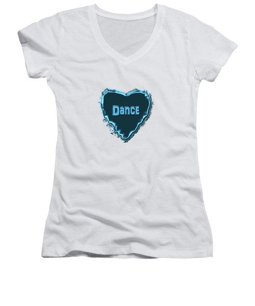 Women's V-Neck T-Shirt (Junior Cut) featuring the digital art Dance by Linda Prewer