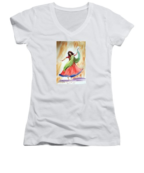 Dance Of Abandon Women's V-Neck