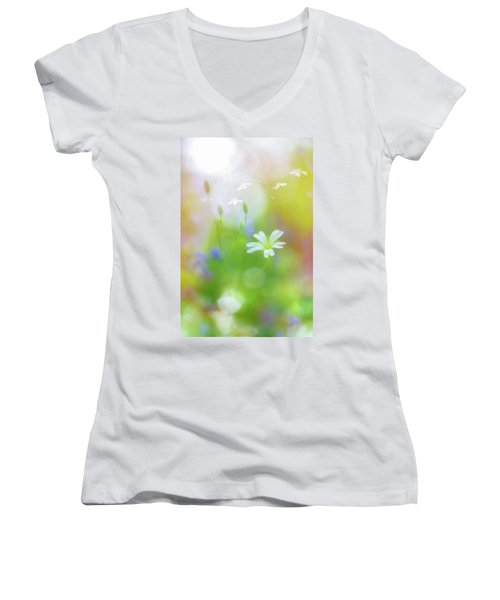 Dance Of The Nature Spirits Women's V-Neck (Athletic Fit)