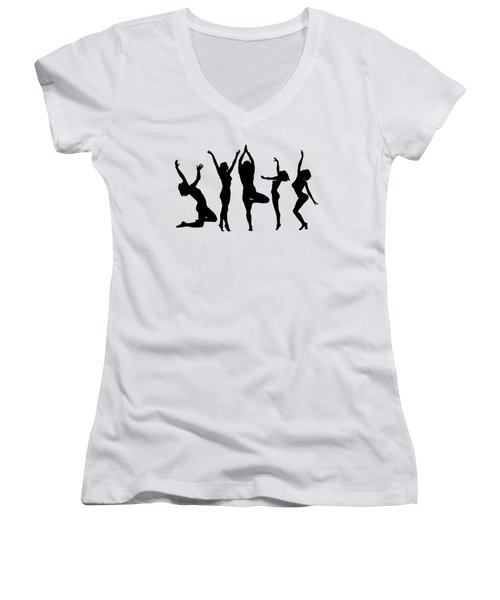 Dancing Silhouettes Women's V-Neck (Athletic Fit)