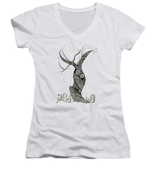 Dancing Tree Women's V-Neck