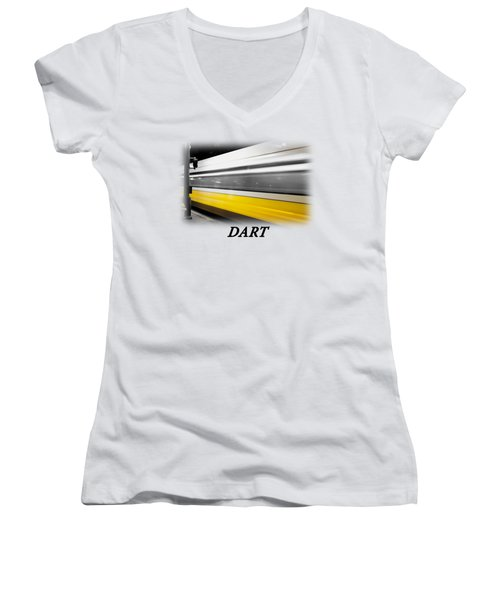 Dart Train T-shirt Women's V-Neck T-Shirt