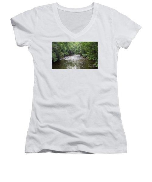 Davidson River In North Carolina Women's V-Neck