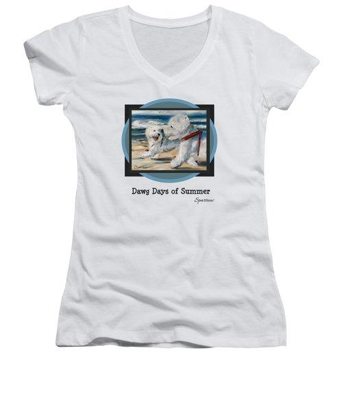 Dawg Days Of Summer Women's V-Neck T-Shirt